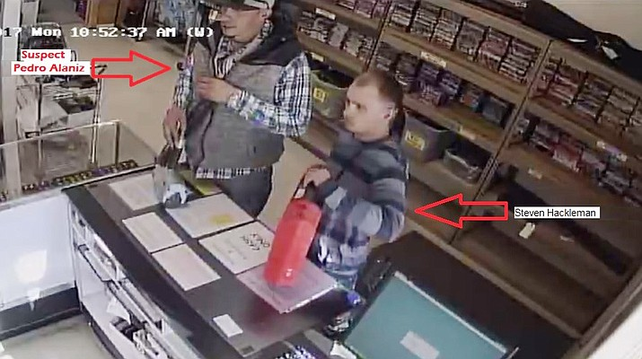 According to YCSO, the two suspects, Pedro Alaniz and Steven Hackleman, took some of the stolen items to a pawn shop in December. (Yavapai County Sheriff's Office)