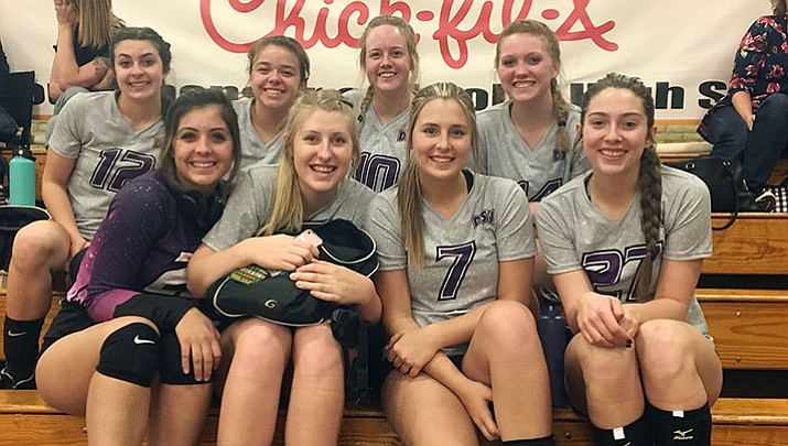 The DSV 18U team, top row from left, Ashley Sahawneh, Kaylse Whitehead, Brittany Dollarhide and Aspen Jackson. Bottom row, from left, Lorelei Fernandez, Sadie Snay, Tori Logan and Isabella Anderson.