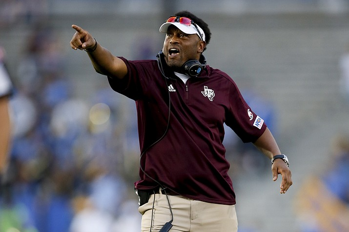 Ex-Texas A&M football coach Kevin Sumlin takes over the Arizona program this week if his contract is approved by the Board of Regents. (Danny Moloshok, AP file)