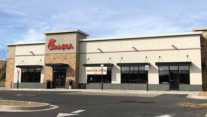 The Prescott Valley Crossroads Chick-fil-A, 5773 E. Highway 69, opens at 6 a.m. Thursday, Jan. 18.