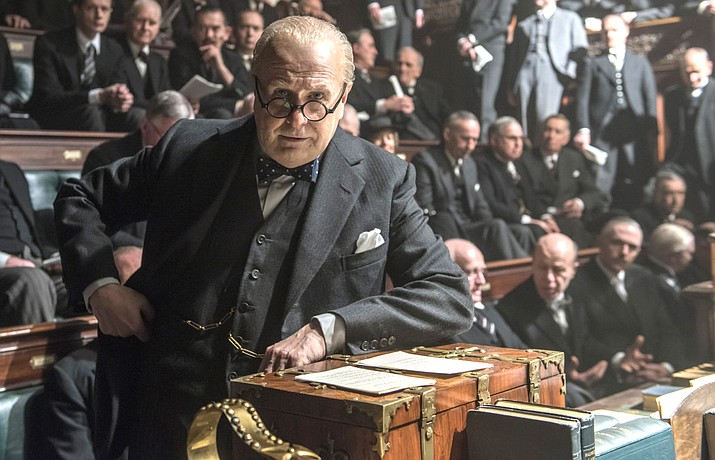 'Darkest Hour' is a depiction of a few weeks that changed — saved— the free world. And it is just about all true.  The proceedings in England's Parliament and official meetings are on record.