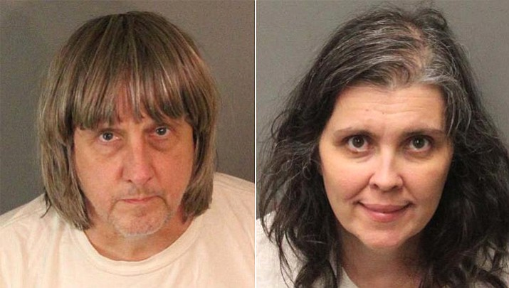 David Allen Turpin, 57, and Louise Anna Turpin, 49, each were held on $9 million bail and could face charges including torture and child endangerment. (Riverside County Sheriff's Department)