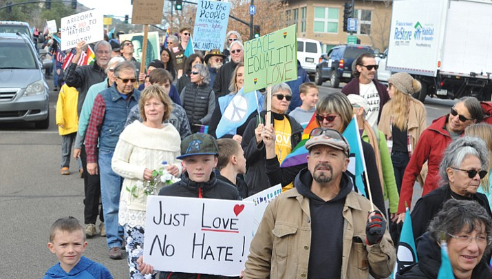 MLK Day 'Peace and Justice' March began day-long celebration  of peace, love and freedom