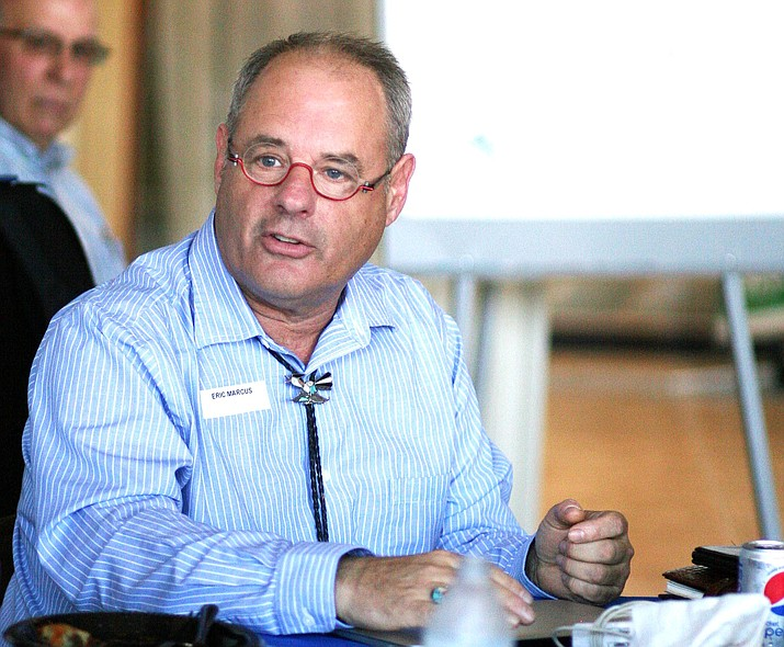 Monday, Yavapai County Schools Superintendent Tim Carter selected Cornville resident Eric Marcus to join the Cottonwood-Oak Creek School District's governing board. Marcus is pictured at the 2016 Verde Valley Forum of Public Affairs. (Photo by Bill Helm)