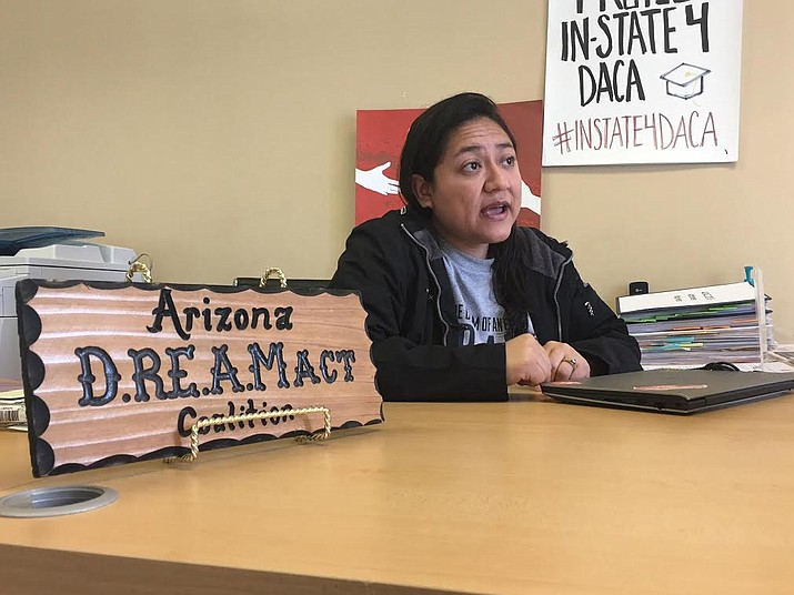 Karina Ruiz, a DACA recipient herself, works at Arizona Dream Act Coalition assisting immigrants in the U.S. toward a path for lawful U.S. citizenship along with the application process for DACA recipients.