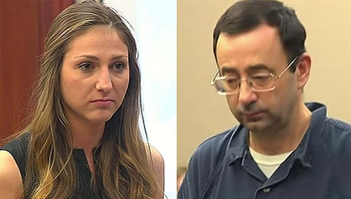 Kyle Stephens was the first victim of nearly 100 to speak Tuesday at a sentencing hearing for former doctor Larry Nassar, who pleaded guilty to molesting females at his Michigan State University office, his home and a Lansing-area gymnastics club, often while their parents were in the room.
