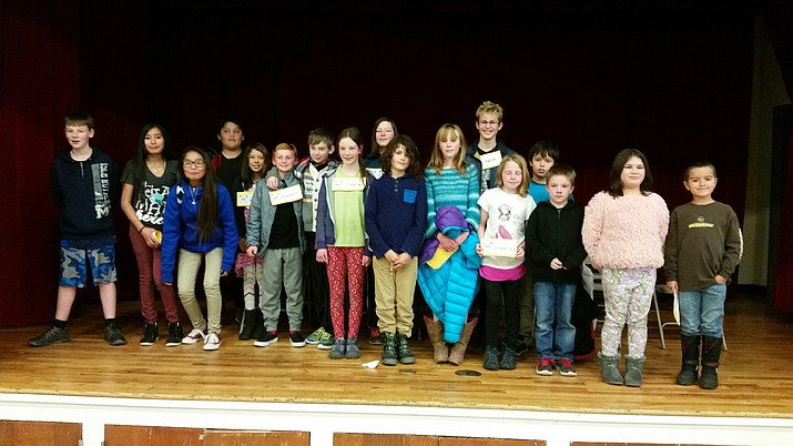 Students in kindergarten through eighth grade participated in the Spelling Bee.