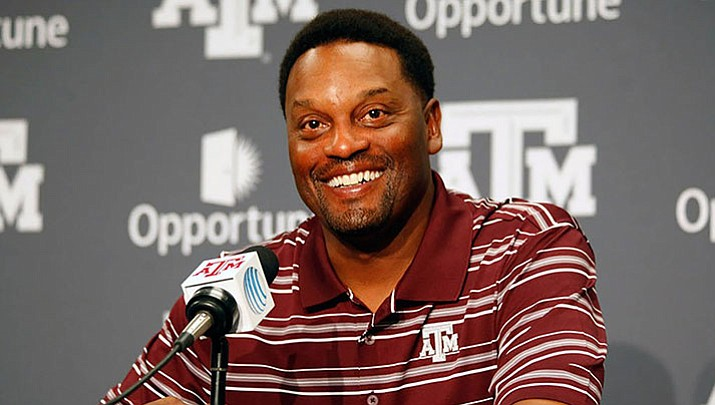 Former Texas A&M coach Kevin Sumlin was introduced as University of Arizona's new football coach Tuesday.