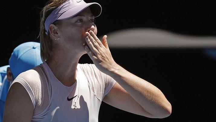 Sharapova advances to round 2 in Australia