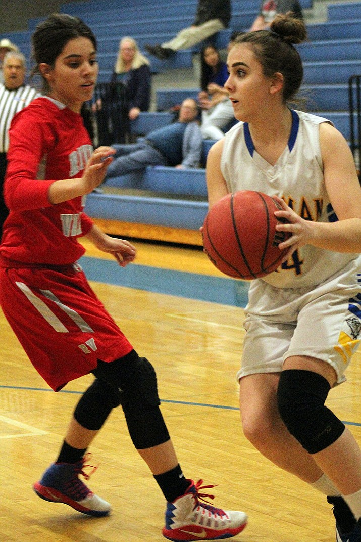Kingman High's Courtney Mossor scored eight points in a 38-36 win Tuesday night over River Valley.