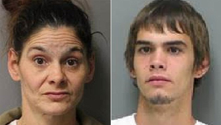 Investigators at the Sussex Correctional Institution in Delaware have arrested Angel Osborne for mailing a shipment of drugs to her son, Patrick Osborne, an inmate serving time for unrelated charges. (DOC photos)