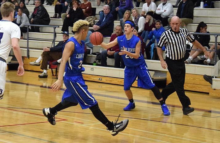 Camp Verde sophomore Jason Collier is leading the Cowboys in scoring (15.2 points per game) in his first season on varsity. (VVN/James Kelley)