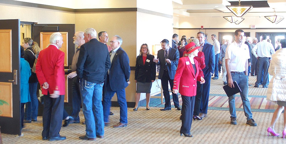 Prescott-area business leaders begin to arrive for the Prescott Chamber of Commerce Annual Meeting at the Prescott Resort on Thursday, Jan. 18. (Tim Wiederaenders/Courier)