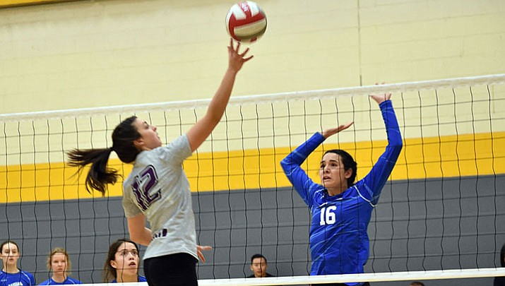 DSV 18U's Ashley Sahawneh sends a ball over the net last weekend during the Fiesta MLK Tournament at Arizona State.