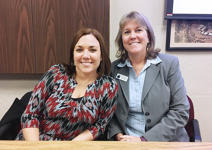 Should Cottonwood-Oak Creek School District merge three of its schools into two K-8 schools, Cottonwood Elementary School Principal Jessica Vocca and Dr. Daniel Bright Principal Nancy Erickson would serve as co-principals at one of the district's new K-8 schools. (Photo by Bill Helm)