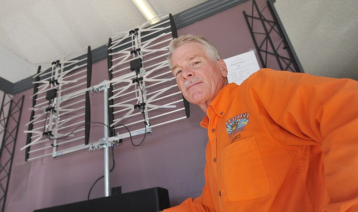 "James Todd of Arizona TV Worx in Prescott is staying busy these days from ""Cord Nevers"" and those wanting to save money on their TV use. (Les Stukenberg/Courier)"