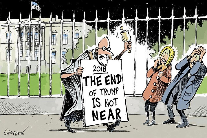 Editorial cartoon: 2018, the end of Trump is not near