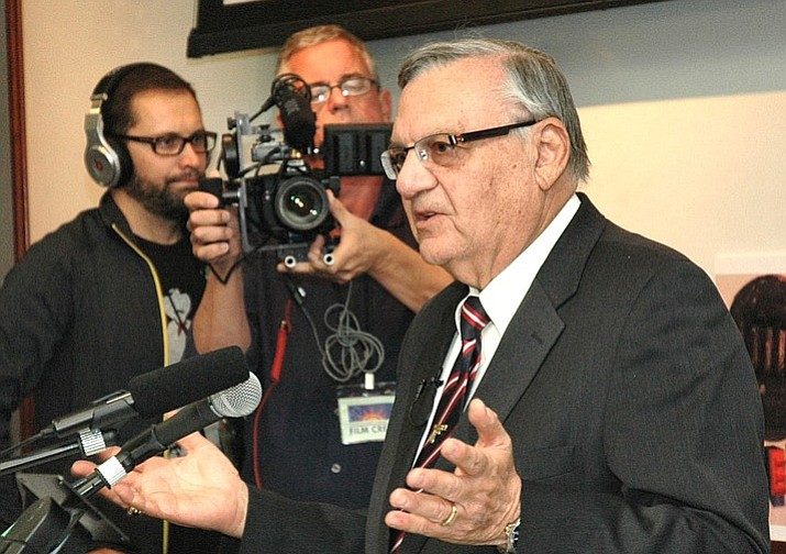 File photo of Former Maricopa County Sheriff Joe Arpaio. Arpaio is asking an appeals court to overturn a judge's decision that the ex-lawman's criminal contempt conviction stands despite his being pardoned by President Donald Trump. (Howard Fischer/Capitol Media)