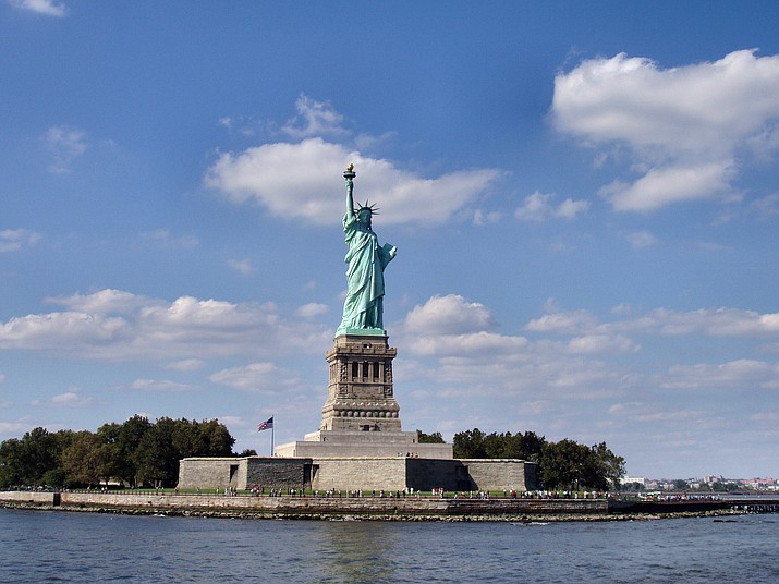 The Statue of Liberty and Ellis Island had remained open for visitors during the government shutdown with New York state picking up the tab for the federal workers. It will now re-opened with federal funding Tuesday after Senators reached an agreement to advance a bill ending the government shutdown Jan. 22, 2018. (File photo)