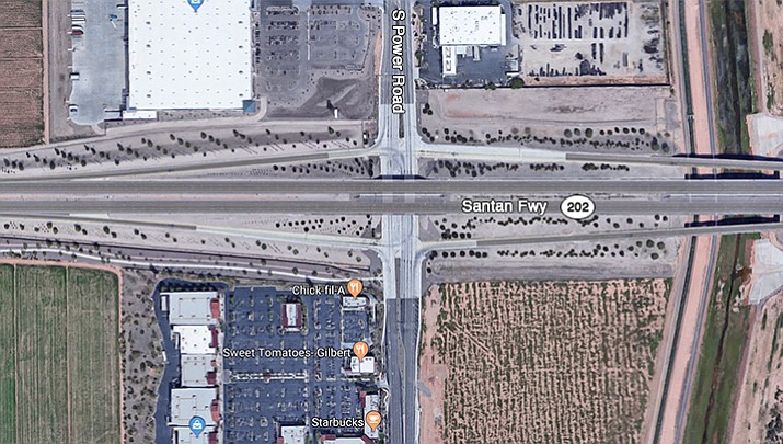 Arizona Department of Public Safety officials say a wrong-way accident occurred around 5 a.m. Sunday, Jan. 21, 2018 on the Santan Loop 202 near Power Road. (Google Maps)