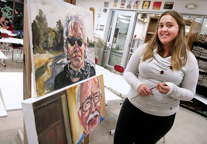"Mingus Union High School art teacher Tasili Epperson says she ""really enjoy[s] seeing students develop their artistic skills, critical thinking and creative expression."" (Photo by Bill Helm)"