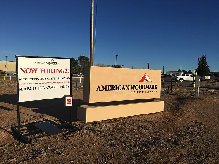 American Woodmark, one of the larger tenants at Kingman Airport and Industrial Park, advertises for hiring. Kingman Airport Authority on Monday approved $100,000 in additional legal fees to battle a condemnation case filed by the City of Kingman.