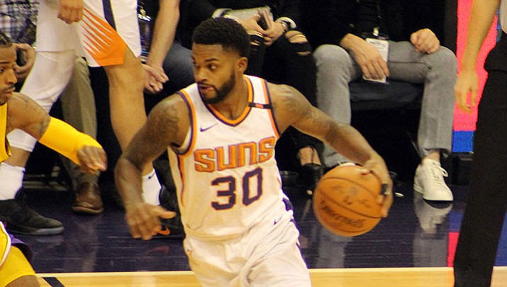 Troy Daniels scored 15 points for the Suns in a 109-105 loss Monday night to the Bucks. Phoenix has dropped four of its last five games.