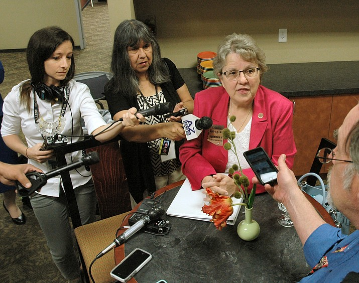 "In her annual State of Education speech Monday, State schools chief Diane Douglas told members of the House Education Committee, ""While teacher pay is not the only factor leading to the shortage, it is a big factor...Arizona teacher pay is among the lowest in the country."" (File photo by Howard Fischer/Capital Media Services)"