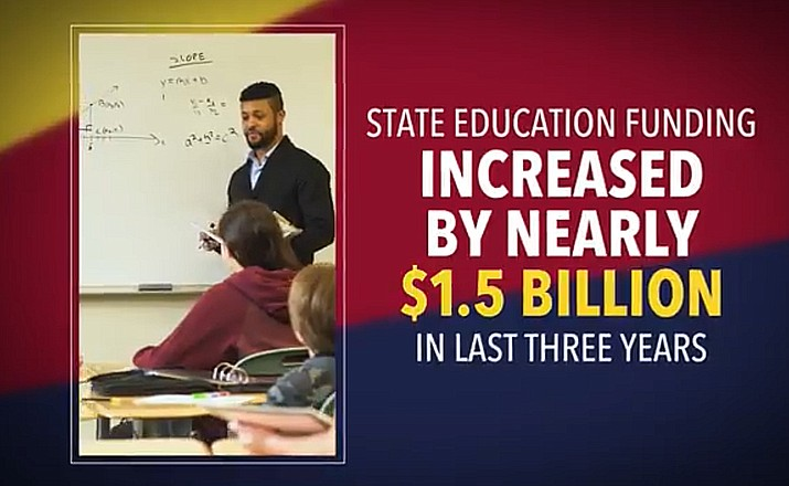 A new commercial being run by the Arizona Education Project is intended to counter negative press reports about the state's school system and its funding.