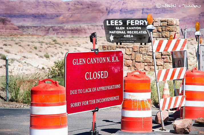 This was the scene at national parks during the October 2013 shutdown of the federal government.The government is trying to keep more parks open during this shutdown, even though the parks will not be staffed.
