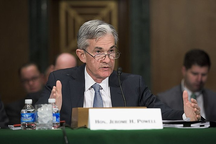 Governor Jerome H. Powell testifying before a joint hearing of the Senate Banking Subcommittee in Washington, D.C., on April 14, 2016.