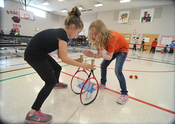 Tennis is one of a variety of sports that elementary-aged children get a chance to explore through the district's physical education curriculum, which looks quite a bit different than gym classes of yesteryear.