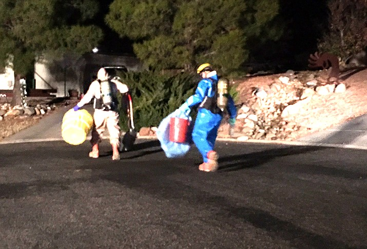 VVFD was dispatched to a residence after the home owner poured an acid-based drain cleaner down the drain and a chemical reaction occurred, according to a news release from Nazih M. Hazime, fire chief, Verde Valley Fire District. Photo courtesy of VVFD