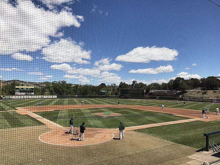 Roughrider Park under blue skies before the Yavapai College baseball team took on Eastern Arizona in the season finale April 29, 2017. Roughrider Park has been home to several home run hitters in the past three years, but in 2018, Yavapai will look be more patient at the plate and focus on good base running. (Brian M. Bergner Jr./Courier, File)