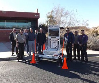 Mohave County Sheriff's Office has received two speed-warning trailers through a grant from the Governor's Office for Highway Safety.