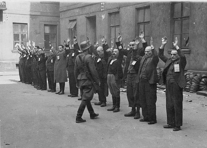 The Warsaw ghetto uprising.