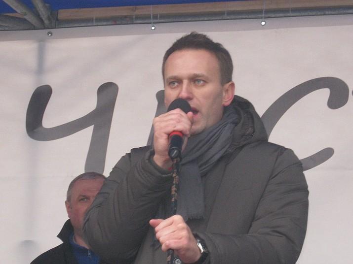 Alexei Navalny speaking in Saint Petersburg, Feb. 25, 2012. (Anna Plotnikova)