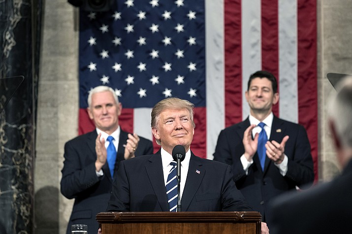 President Donald Trump makes his State of the Union address today at 7 p.m.