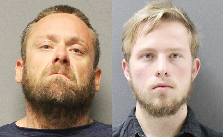 Christopher Toney, at left, and Buchanan Bleeker were arrested in a local law enforcement operation combating human tracking and prostitution in Yavapai County.