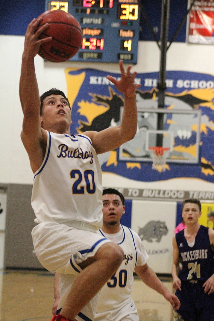 Kingman's Elijah Howery scored 14 points Tuesday night in a 63-62 loss to Wickenburg.