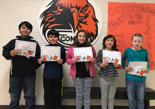 The January Students of the Month at WEMS include: Miguel Rocha, Elias Martinez, Hannah Hamberger, Baylee Schulte, Abby Deutschman and Sofia Lara Romero.