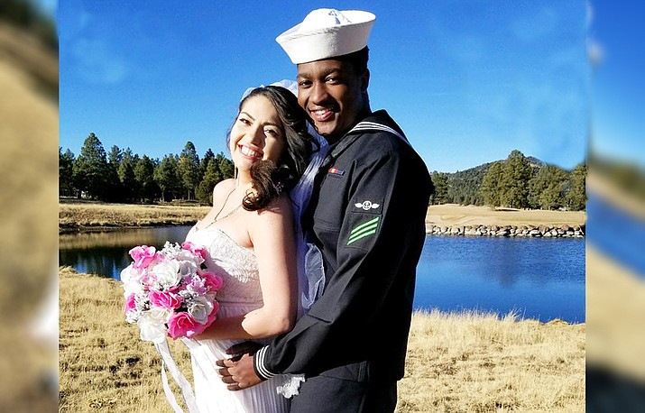 Malik Brown wed Rozeanna Martinez Jan. 5.
