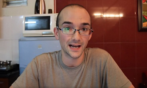 Daniel Hauer in a screenshot taken from his apology video.