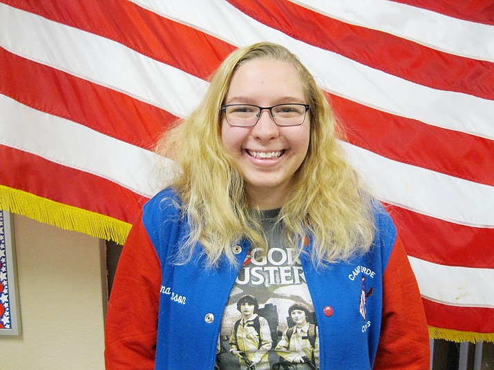 Camp Verde High School has announced that senior Celeena Johnson is the school's January Kiwanis Student of the Month. (Photo courtesy Camp Verde Unified School District)