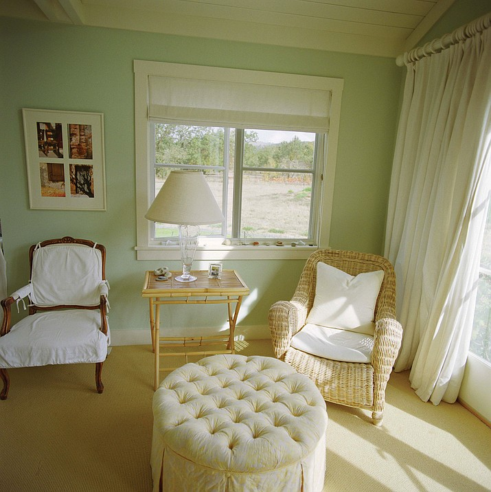An empty bedroom can be turned into a cozy sitting room. (Courtesy)
