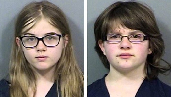 Morgan Geyser (left) and Anissa Weier (right) were 12 years old at the time of the crime. (Police photo)