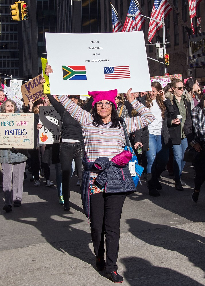 2018 Women's March in New York City on Sixth Avenue between 49th-50th streets.