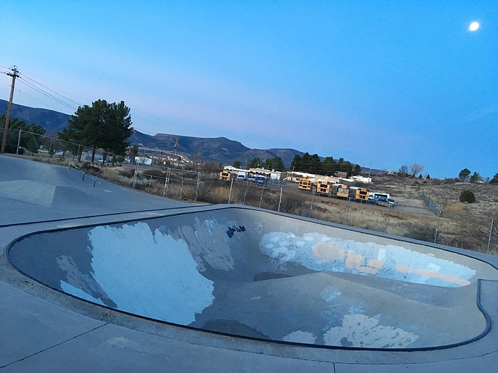 Thursday, the Town of Camp Verde closed its skate park for eight days due to vandalism. Friday, the Town reopened the park, effective immediately. (Photo by Bill Helm)