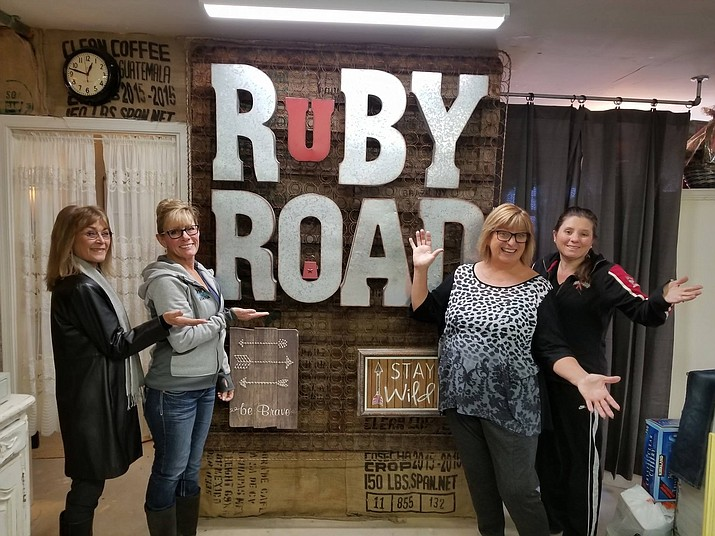 Kathie Teal, far left, visits Ruby Road in Camp Verde. (Courtesy photo)