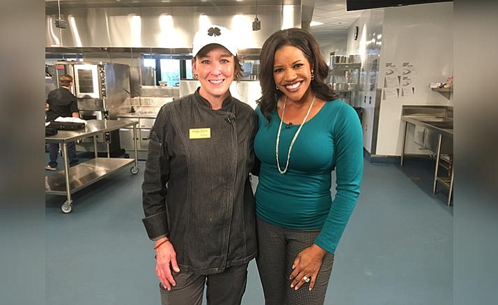 Jennifer Jackson, left, poses next to ABC15's Susan Casper. Jackson is a lead faculty member at the Yavapai College Culinary Institute of Sedona, recently became one of fewer than 20 people annually to earn a prestigious Level II Chef Rating from the Culinary Institute of America, the world's premier culinary college. (Courtesy of Yavapai College)